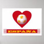 ESPAÑA Fútbol Corazón y Bufanda Brasil 2014 Impresiones