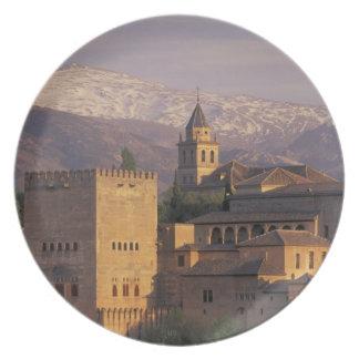 España, Granada, Andalucía Alhambra, 2 Plato De Comida