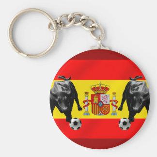 España La Furia Roja futbol Toro Flag of Spain Key Chains