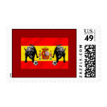 España La Furia Roja futbol Toro Flag of Spain Postage Stamps