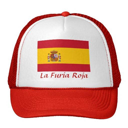 "España ""La Furia Roja "" Gorro De Camionero"