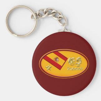 España logo 2010 One star Spain flag  oval emblem Keychain