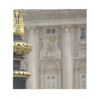 España, Madrid. Royal Palace, lámpara dorada adorn Libretas Para Notas