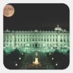 España, Madrid, Royal Palace y plaza de Pegatina Cuadrada