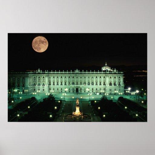 España, Madrid, Royal Palace y plaza de Póster