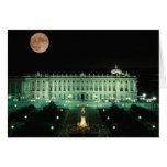 España, Madrid, Royal Palace y plaza de Tarjeta De Felicitación