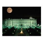 España, Madrid, Royal Palace y plaza de Tarjeta Postal