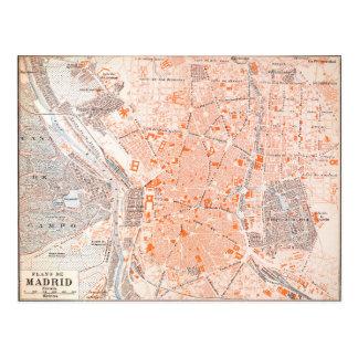 España: Mapa de Madrid, C1920 Postal