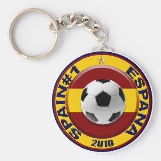 España número 1 2010 regalos del fútbol llavero redondo tipo pin