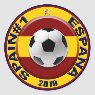 España número 1 2010 regalos del fútbol pegatina redonda