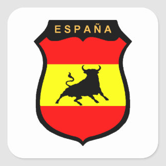 España Pegatina Cuadrada