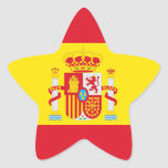 España Pegatina En Forma De Estrella