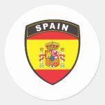 España Pegatina Redonda
