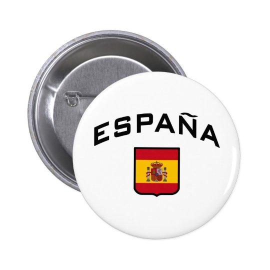 España Pin Redondo De 2 Pulgadas