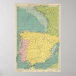 España, Portugal, Francia occidental Posters