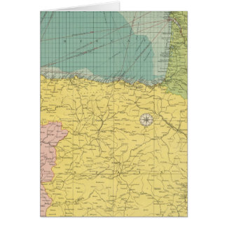 España, Portugal, Francia occidental Tarjeta