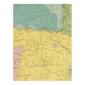 España, Portugal, Francia occidental Postal