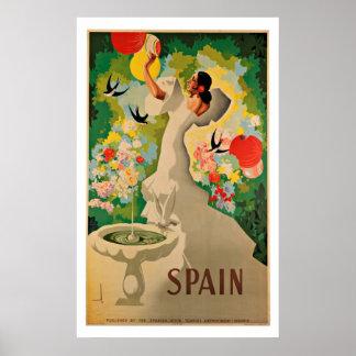 España - posters del viaje del vintage
