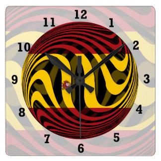 España Reloj Cuadrado
