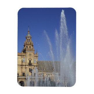 España, Sevilla, fuente de Andalucía y adornado Imán De Vinilo
