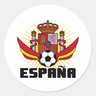 España Soccer Classic Round Sticker
