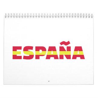 España Spain flag Calendar