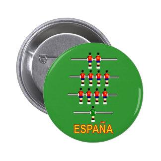 Espana Spain Retro 74 Table Football Foosball Pinback Button