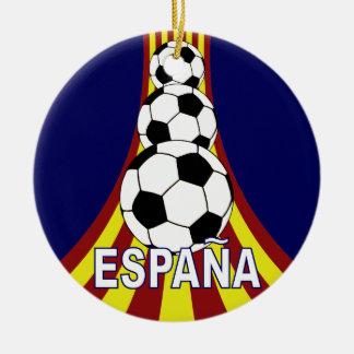 Espana Spain Soccer Fútbol Double-Sided Ceramic Round Christmas Ornament