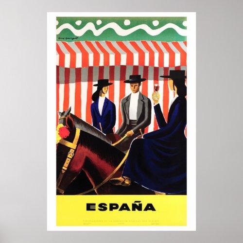 Espana Spain Vintage Travel Poster Restored