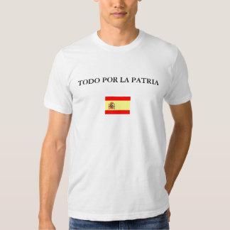 españa, TODO POR LA PATRIA Polera