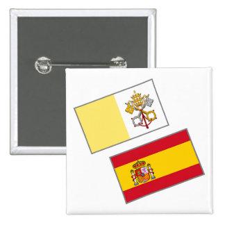 España-Vaticano-Banderas 2 Botones