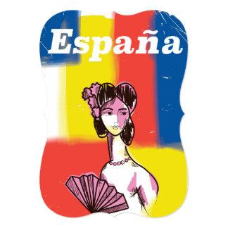 España vintage travel poster card