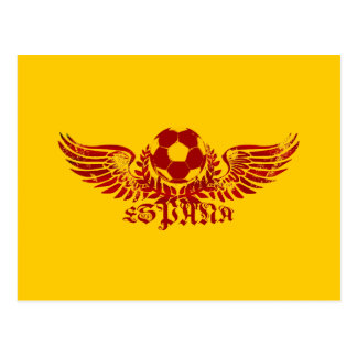 Espana winged soccer ball logo emblem gifts postcard