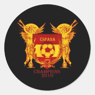 Espana World Champions 2010 Vuvuzela Shield Classic Round Sticker