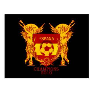 Espana World Champions 2010 Vuvuzela Shield Postcard
