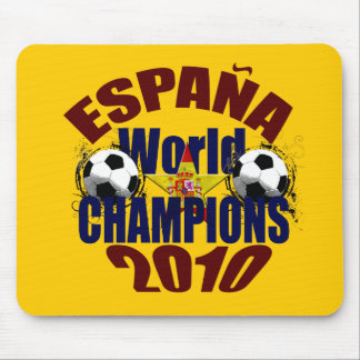 Espana World Champions flag of Spain Mouse Pad