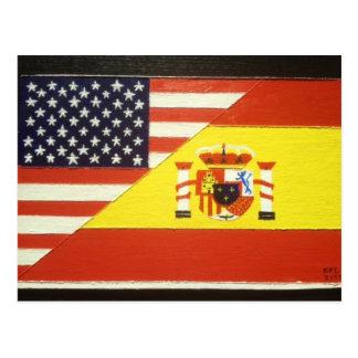 España y Estados Unidos Postales