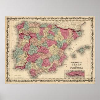 España y Portugal 12 Póster