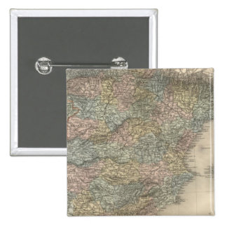 España y Portugal 15 Pin Cuadrado