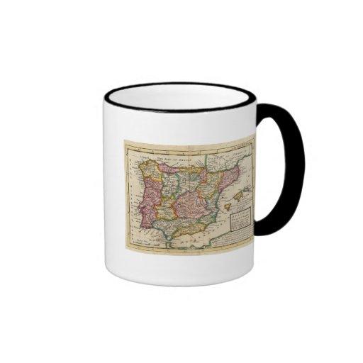 España y Portugal 4 Tazas De Café