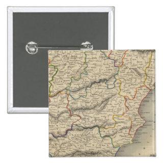 España y Portugal 9 Pin Cuadrado
