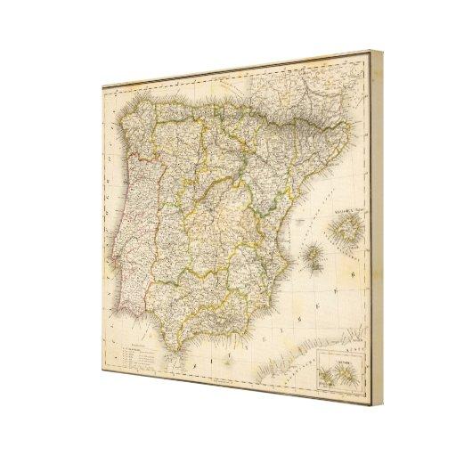España y Portugal Impresión En Lona