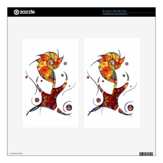 Espanessua - imaginery spiral flower kindle fire skin