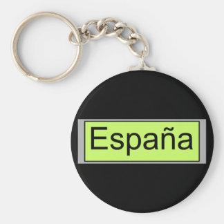 Espania Basic Round Button Keychain