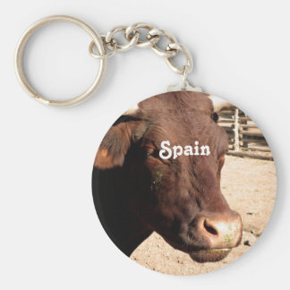 Español Bull Llavero Redondo Tipo Pin