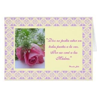 Español: Creo de Dios al día de los madres /Mother Tarjeta De Felicitación