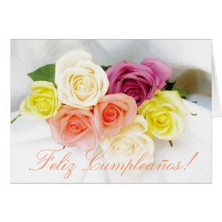 Español: Cumpleaños Cumpleanos blanco Tarjeta De Felicitación