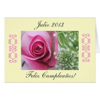 Español: Cumpleaños/Cumpleaños Tarjeta De Felicitación