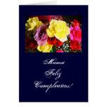 Español: Cumpleanos de la Mamá /Mom b-day/ Tarjeta De Felicitación