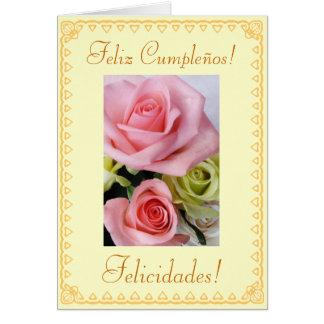 Español: Cumpleaños Feliz Cumpleanos Tarjeta De Felicitación
